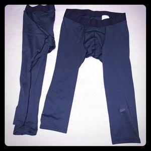 Nike Large 3/4 Length Compression Pants